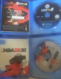 NBA 2K18 and FIFA 18 (PS4)