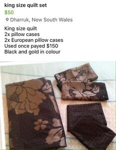 King size quilt cover set Hebersham Blacktown Area Preview