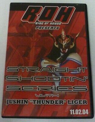 ROH Ring of Honor Jushin Thunder Liger Straight Shootin Wrestling DVD WWE WWF