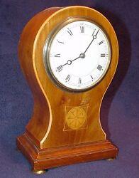 VICTORIAN United Kingdom WOODEN CASE & MOSAIC DECORATIVE DESK CLOCK 1850 NM RARE