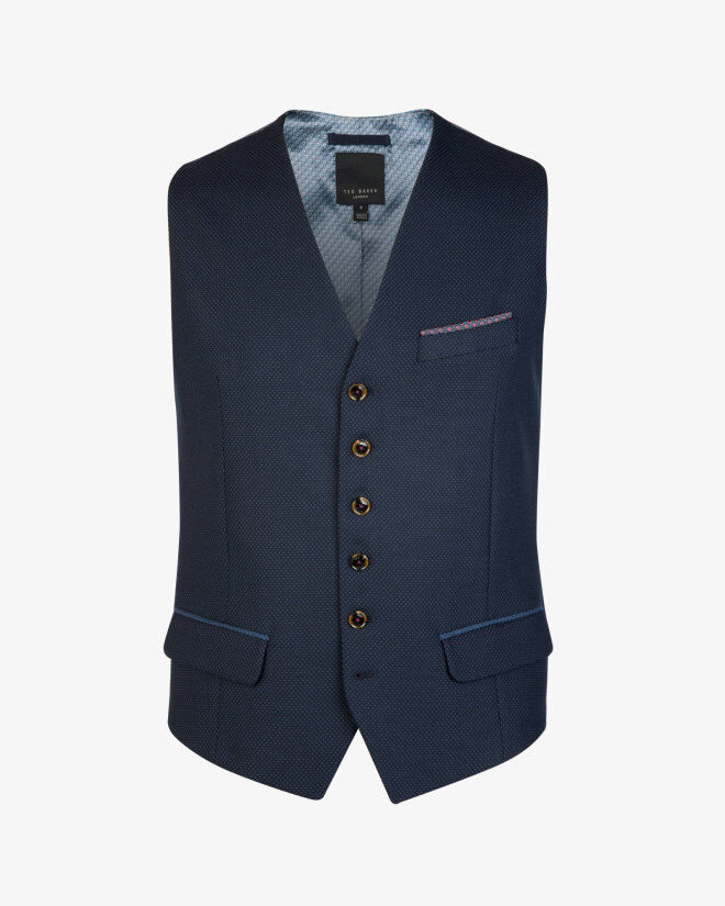 f3a37a7a3acca Ted Baker Saturn Waiscoat Navy size 6 (XXL) 30£