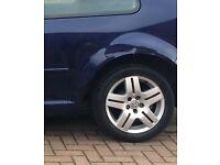 Golf mk4 gti alloys full set includes alloy spare wheel