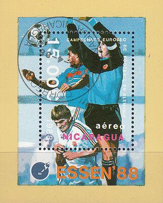 Nicaragua Nr. Bl. 178 (2868)  ESSEN`88 / Fußball EM in Deutschland Nicaragua Essen