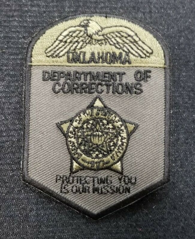 Subdued Oklahoma Department of Corrections OK Police Patch