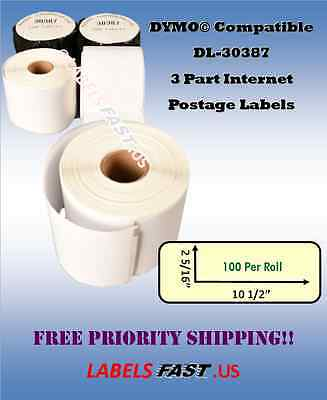 30387 Dymo Labelwriter Compatible 3 Part Postage Labels Lowest Prices On Ebay