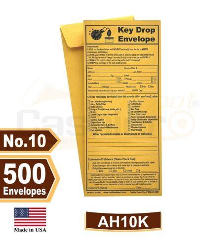 "After Hours- Night Key Drop Envelope, 4 1/8"" x 9 1/2"", Premium 24lb Kraft, 500CT"