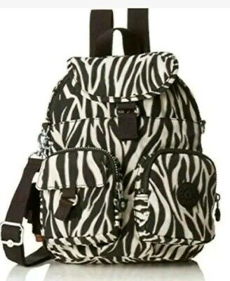 Genuine Kipling Zebra Backpack shoulder handbag zebra print VGC