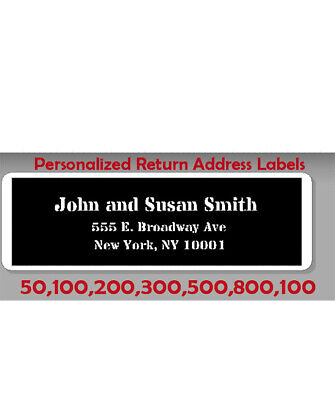 Personalized Printed Large Color, Center Aligned Return Address Labels 1