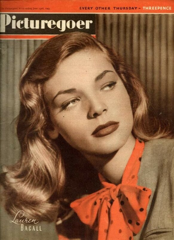 Picturegoer Film Magazine Lauren Bacall Cover Glamour Photo 1945 Rare Complete