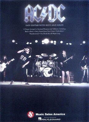AC/DC Easy Guitar Songbook Noten für Gitarre leicht