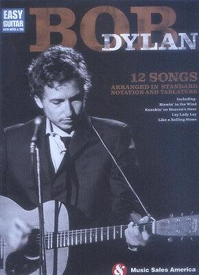 Bob Dylan 12 Songs for Easy Guitar Songbook Noten Tab für Gitarre leicht