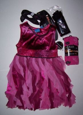 NWT CHILDREN'S PLACE PINK KITTY COSTUME DRESS & ACCESSORIES 2-3 TCP HALLOWEEN (Kitty Costume Accessories)