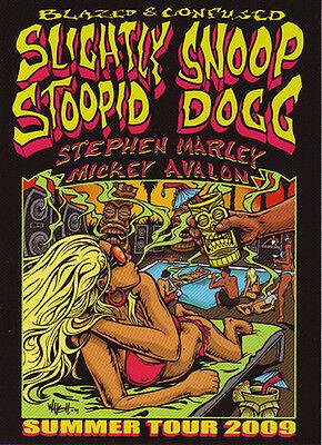 MINT SLIGHTLY STOOPID SNOOP DOGG BLAZED & CONFUSED CONCERT TOUR HANDBILL CHRONIC