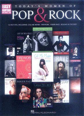 Today's Women of Pop & Rock Easy Guitar Songbook Noten Tab für Gitarre leicht
