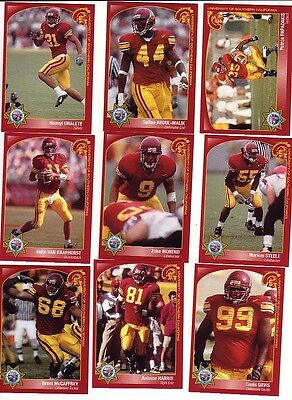 2000 USC TROJANS FOOTBALL 21 CARD SET SOUTHERN CAL ZEKE MORENO MARKUS STEELE