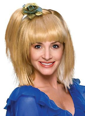 70's Prom Girl Wig - Adult Blonde Blond 70s Prom Girl Pony Tail Costume Wig