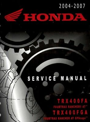 2004 - 2007 Honda TRX400 FourTrax Rancher ATV Quad Service Repair Manual segunda mano  Embacar hacia Spain