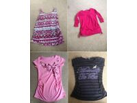 Bundle of maternity tops, vests T-Shirts sizes 8/10