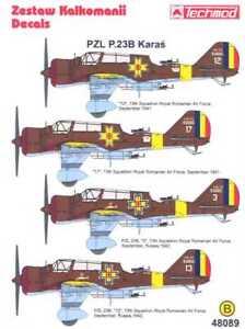 Techmod Decals 1/48 ROMANIAN PZL P-23B KARAS Bomber