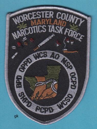 WORCESTER MARYLAND NARCOTICS DRUG TASK FORCE  POLICE SHOULDER PATCH
