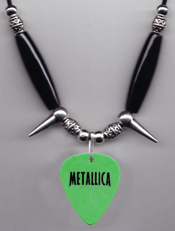 Metallica XXX Green Guitar Pick Necklace