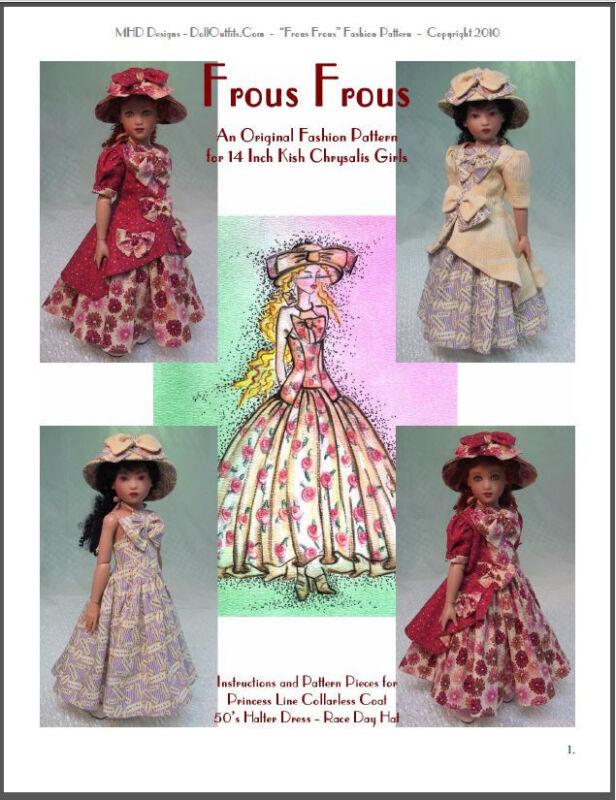 """Frous Frous"" Fashion Pattern for 14"" Kish Chrysalis"