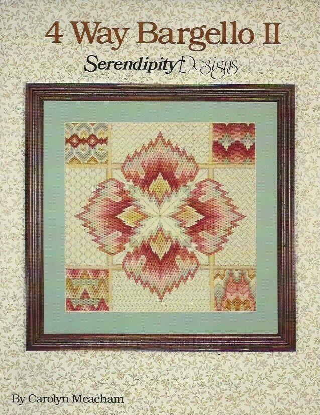 4 Way Bargello Counted Needlepoint Pattern -Carolyn Meacham - $4.99