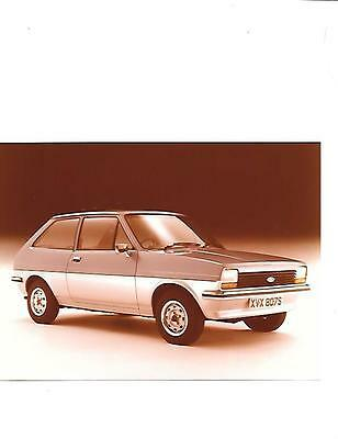 """FORD FIESTA KINGFISHER SPECIAL EDITION  PRESS PHOTO FOR 1979 """"Brochure related"""""""