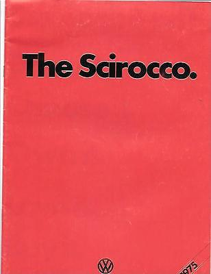 VW VOLKSWAGEN SCIROCCO CAR SALES BROCHURE MARCH 1975