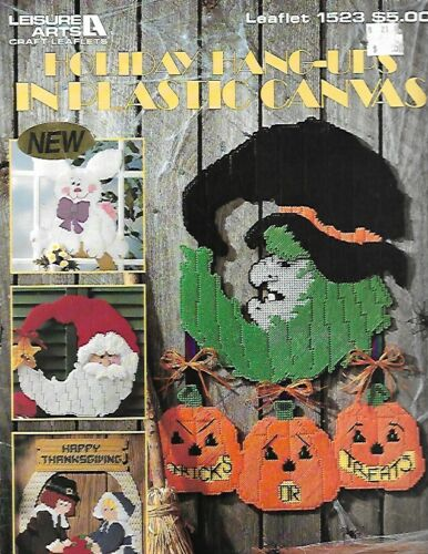 Holiday Hang Ups in Plastic Canvas Pattern Leaflet 1523 by Leisure Arts