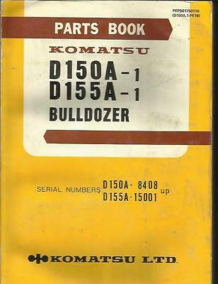 Komatsu D150a-1 And D155a-1 Bulldozer Parts Catalog Good
