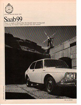 1969 SAAB 99 ~ ORIGINAL 4-PAGE ROAD TEST / ARTICLE / AD for sale  Chesterfield