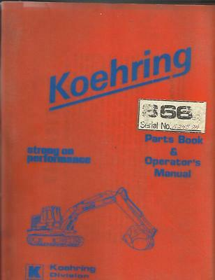 Koehring 866d Excavator Parts Book And Operators Manual