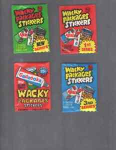 1979, 1980 NEW, 1980 3rd, 1985  TOPPS WACKY PACKAGES STICKERS WAX PACKS ONE EA.