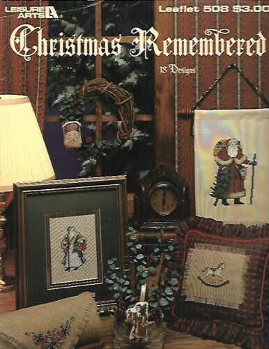 Christmas Remembered Counted Cross Stitch Pattern Leaflet 508 Leisure Arts