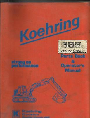 Koehring 666d Excavator Parts Book And Operators Manual