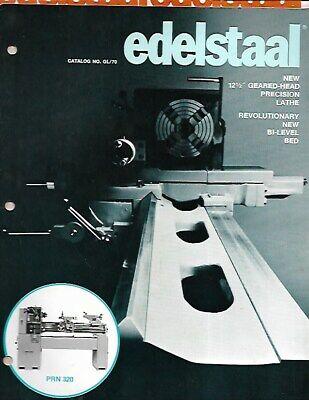 E - Lot 1970 Edelstaal Machining Lathe Sales Brochure Accessory Catalogs
