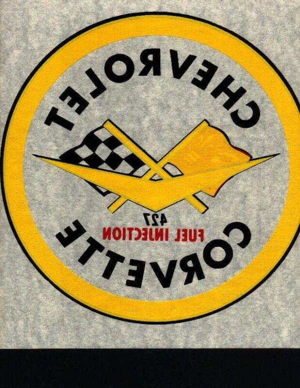 CHEVROLET CORVETTE CLASSIC  logo iron on tee shirt transfer full size NOS