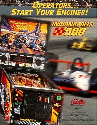 INDIANAPOLIS 500 Original 1995 NOS Pinball Machine Flyer BALLY Auto Race Artwork
