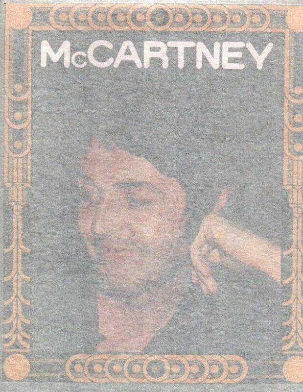 PAUL McCARTNEY  full size vintage 70s iron on t shirt transfer, NOS