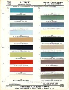 1964 lincoln continental ford thunderbird paint chips ebay. Black Bedroom Furniture Sets. Home Design Ideas