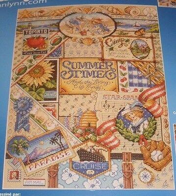 Janlynn SUMMER SAMPLER Counted Cross Stitch Kit 023-0347 New