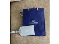 Swarovski Leather Luggage Tag
