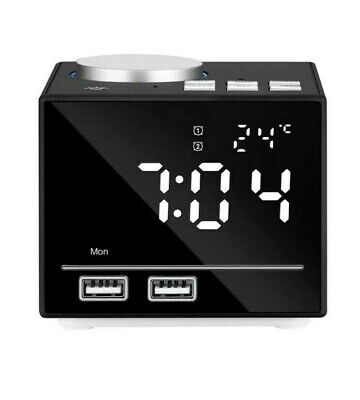 K3 Radio Alarm Clock With Dual Usb Charger for iphone android