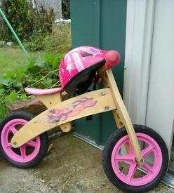 Balance girl bike