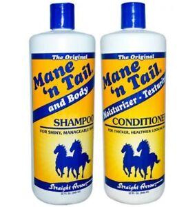 NEW - Mane 'N Tail Hair Shampoo and Conditioner Combo, 32 Ounce oz Free Shipping