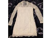 Sexy white lace bodycon dress size 14 / 16 New