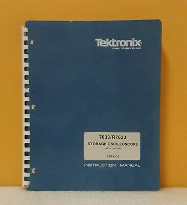Tektronix 070-1767-00 7633r7633 Storage Oscilloscope Instruction Manual