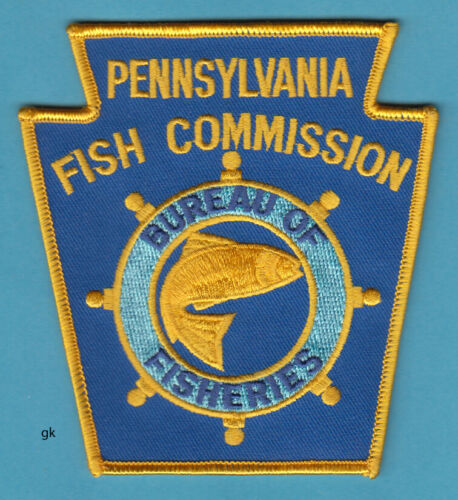 PENNSYLVANIA FISH COMMISSION BUREAU OF FISHERIES  POLICE PATCH