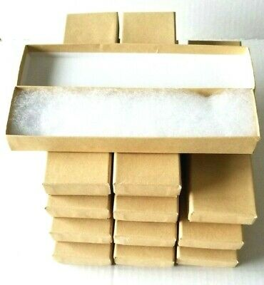 Jewelry Kraft Cotton Filled Necklace Or Bracelet Boxes - Set Of 12